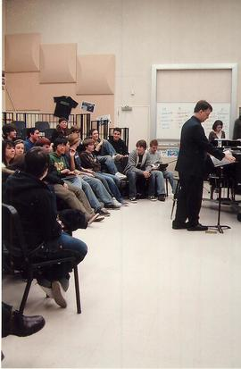 Rehearsal, University Chorale 2008 tour