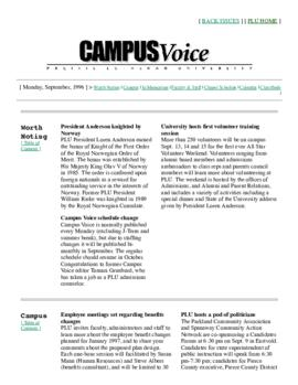 Campus Voice, September 9, 1996