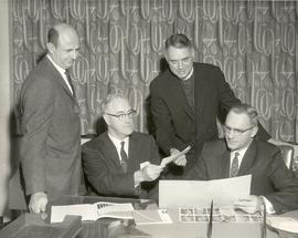President Eastvold, Thomas J. Beier, Reverent A. A. Lemieux, and H.B. Douglas