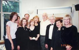 Group photo, Music Department reception 2001