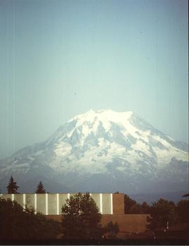 Olson Auditorium and Mount Rainier