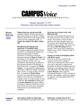 Campus Voice, September 15, 1997