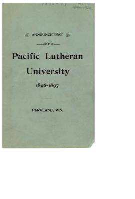 1896-1897 Announcement Catalog