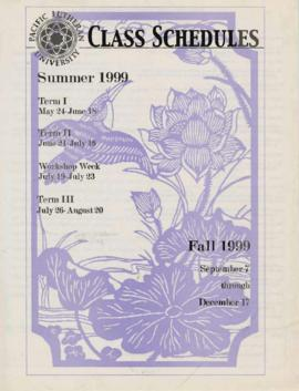 1999 Summer & Fall Class Schedules