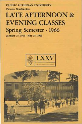 1966 Spring Late Afternoon & Evening Class Schedule