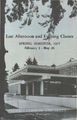 1967 Spring Late Afternoon & Evening Class Schedule