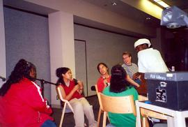 Students talking in Scandinavian Cultural Center