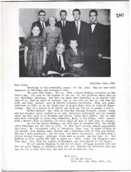 The Olsen Times Family Letters, 1961, 1964