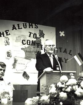 President Mortvedt speech at Homecoming, 1963