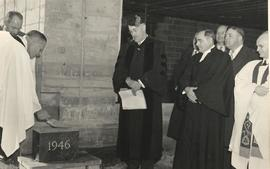 Laying the cornerstone of the Science Hall