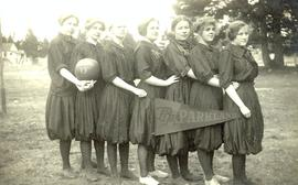 PLA women's basketball team (side view), 1913