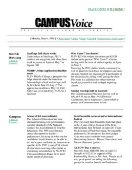 Campus Voice, May 6, 1996