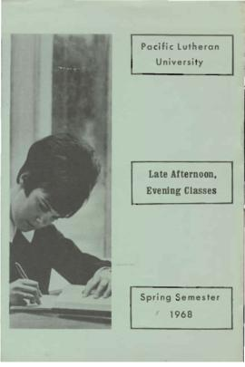 1968 Spring Late Afternoon & Evening Class Schedule
