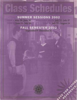 2002 Summer & Fall Class Schedules