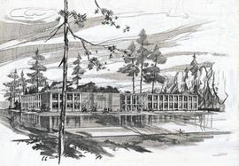 Architect Sketch of Tacoma-Pierce Administration Building