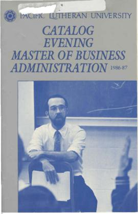 1986-1987 Evening Bachelor of Business Administration Catalog