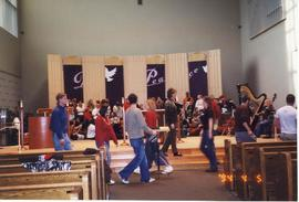 Setting up, Christmas Concert 2001