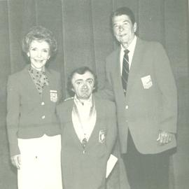 Doug Herland with Ronald and Nancy Reagan