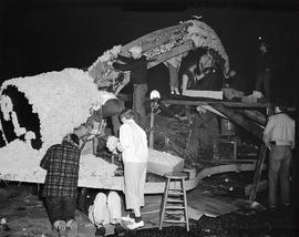 Daffodil float construction, 1956