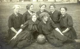 PLA women's basketball team (seated), 1913