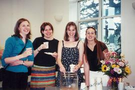 Students attending Music Department reception 2001