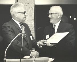 President Mortvedt receives an award