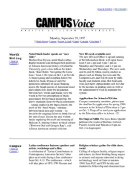 Campus Voice, September 29, 1997