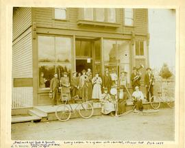 PLU Band Outside Parkland Mercantile Store and Post Office (Oversize)