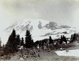 PLU Band on Mount Rainer