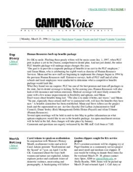 Campus Voice, March 25, 1996