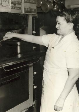 Kitchen staff in Old Main cooking