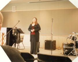 Jazz singer performance, 2004