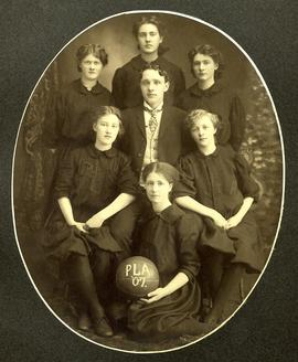 PLA women's basketball team (inside), 1907